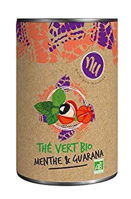 NU Thé Vert Bio Menthe/Guarana 90 g - Lot de 3