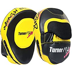 TurnerMAX - Manoplas de entrenamiento para boxeo y artes marciales, color amarillo