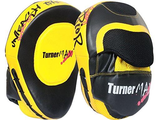 TurnerMAX–Juego de boxeo Focus almohadillas, Gancho y Jab Pads,