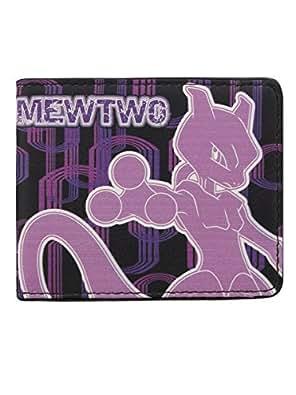 Pokemon Mewtwo 2 plis-PKMN Portefeuille Noir
