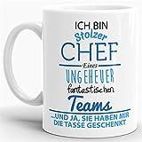 Tasse mit Spruch Chef - Kaffeetasse/Mug/Cup - Qualität Made in Germany