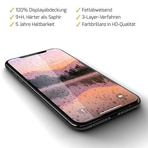 GLAZ Liquid 2.0 geeignet für iPhone X/XS Flüssiger Displayschutz, Vorder-Rückseite, Premium Panzerglas, Schutzfolie, Full Cover, 9+H, Unsichtbar, Displayschutzfolie, Panzerfolie - Iphone Kratzer-entferner Für