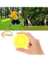 VZATT Mini Frisbee, 2019 Nuovi Zip Chip Frisbee Morbido Flessibile Mini Flying Disc Spin in Catching Game per Adulti Bambini Sport all'aperto Giocattolo - 2 Pacco