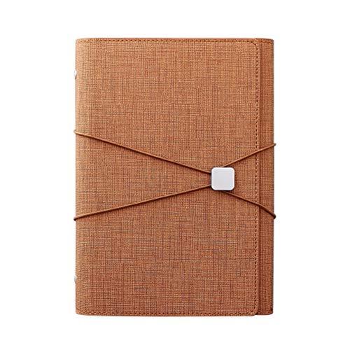 SADFGH Kreatives Briefpapier Leder Notizbuch A5 Organizer Spirale Planer Tagebuch Notizbuch Schreibwaren,Brown