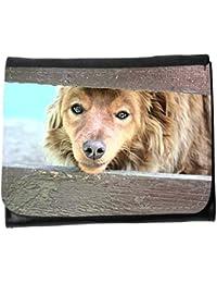 le portefeuille de grands luxe femmes avec beaucoup de compartiments // M00155750 La piel del perro Animales hocico Los // Small Size Wallet