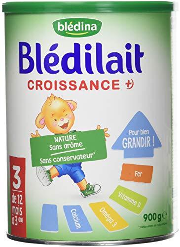 Blédina Blédilait - Lait bébé Croissance en poudre de 12 mois à 3 ans 900 g - Pack de 6