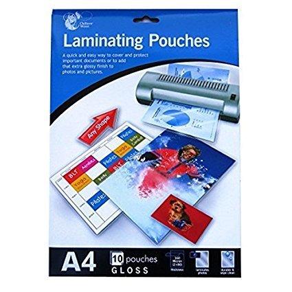 2x A4 Lot de 10 pochettes de plastification (20 sachets