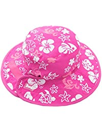 Banz Reversible Sun Baby Hat - Pink And White