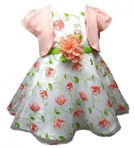 Youngland Traumhaftes Petticoatkleid + Bolero in weiß/lachs Gr. 56,62,68 Größe - Mädchen Für Youngland Outfits