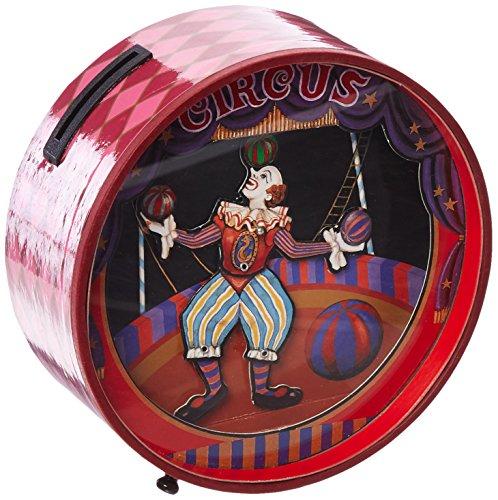 Musicbox Königreich Spardose mit Clowns Tanzen zu der Melodie O du Lieber Augustin Dekoratives Produkt