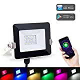 LOHAS Smart Kleine LED-Flutlicht, WLAN-Leuchten, Mehrfarben (2000k-9000k), 8 Modi, Wasserdicht (IP65), Farbwechsel Indoor/Outdoor Sicherheitsleuchten, 10W Spot (100W Äquivalent), Smart Lighting