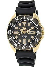 Seiko - SRP608K1 - 5 Sports - Montre Homme - Automatique Analogique - Cadran Noir - Bracelet Silicone Noir