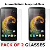 Shop Buzz Pack Of 2 Tempered Glass Screen Guard For Lenovo K4 Note (With Camera And Sensor Cut) For Lenovo Vibe K4 Note 5.5 Inches Screen -