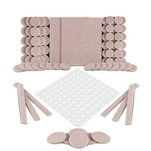 Almohadillas para muebles, almohadillas de fieltro autoadhesivas, paquete premium de 190 almohadillas para muebles
