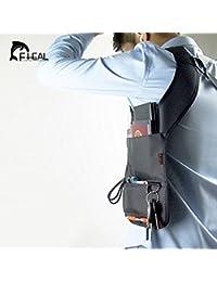 Akruti Black : Anti-theft Hidden Shoulder Armpit Bag Backpack Phone Bag Wallet Tactical Bag Travel Pocket Hidden...