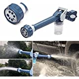Aksh Jet Water Cannon 8 In 1 Turbo Water Spray Gun For Gardening, Car Wash, Home Cleaning