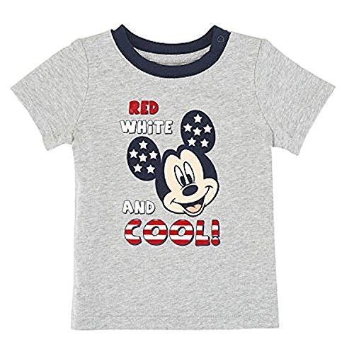 Baby Jungen grau Mickey Mouse rot wei? und Coole T-Shirt Dress Up Tee (Neugeborenen) (Jungen Für Dress Coole Up)