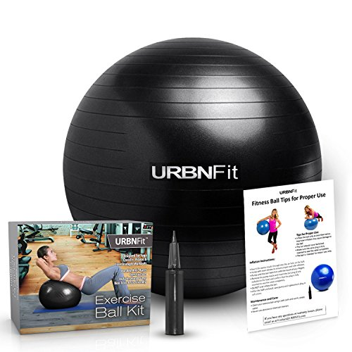 urbnfit-exercise-ball-65-cm-for-stability-yoga-workout-guide-incuded-black