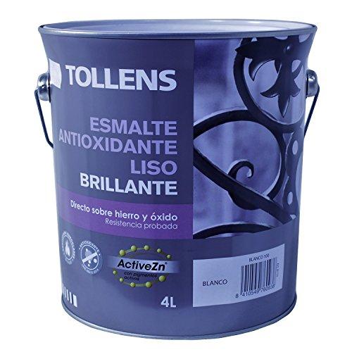 Tollens 8710 Esmalte Antioxidante Liso Brillo, Blanco, 4 l