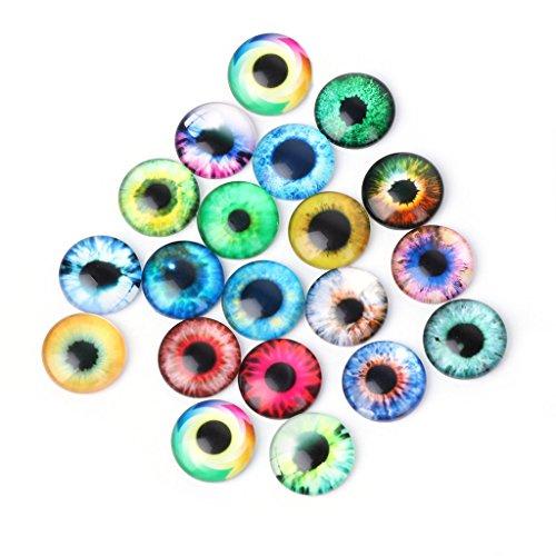Dabixx 20 Stück Glas Puppen Auge DIY Handwerk Tier Augen Schmuck Zubehör 10/16 / 20mm (Glas-puppe Augen)