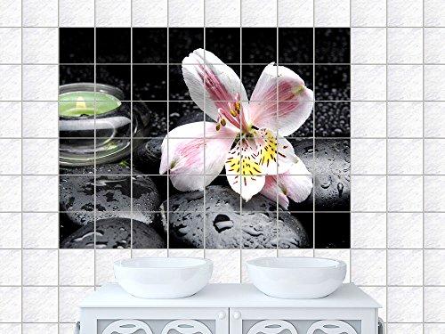 Fliesenaufkleber / Dekofolie für Badezimmer und Küche / Design: Massagesteine, Heilsteine, Wellness, Bildformat:75x50cm(BxH), Tile size: 15 x 20 cm...