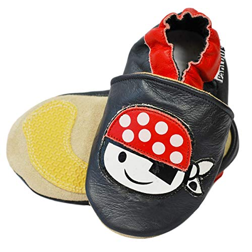0c3d917c36f2e PantOUF Soft Leather Baby Shoes Comfort+ Non-Slip Soles in Suede and Rubber  - Pirate