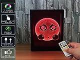 Fernbedienung 3D Magic Photo Frame Nachtlicht ILLusion Nachtlicht 7 Farben Tisch Schreibtisch Dekor Lampe Schlafzimmer Kinderzimmer Dekorative Nachtlicht, USB und batteriebetrieben,Ausdruck Puppe