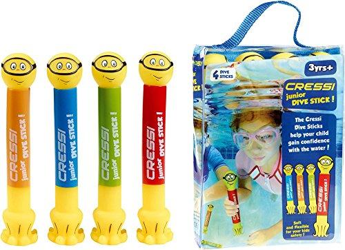 Cressi Swim Kinder Tauchstäbe Junior Dive Stick Kinder Tauchstäbe Schwimmspielzeug (2 Pcs), , DF200017 (Ausrüstung Buceo)