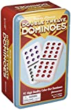 Double 12 Colour Dot Dominoes in Tin