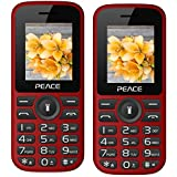 Peace P4 Red Black Black+ P4 Red Black Black COMBO OF TWO Mobile Phones With 1.8 Inch, Dual Sim, 850 MAh Battery, Wireless FM, Bluetooth, Digitel Camera, Call Recording, MP4, Internet & 1 Year Warranty
