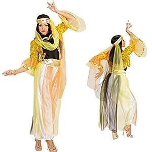 Déguisement danseuse du ventre femme de harem sérail orient danseuse danse du ventre costume oriental T. S 34/36