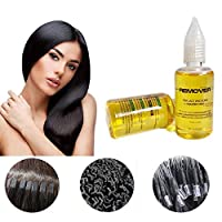 Wig Glue Remover, Womdee Super Hair Bond Glue Remover for Hair Replacement Adhesive Lace Wig Adhesive Glue, Hair Extensions Tool for Lace Wigs Toupees Tape Seamless Hair Removal