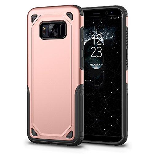 HHF Cases & Covers Für Samsung Galaxy S8 Stoßfest Robuste Rüstung Schutzhülle (Color : Rose gold) -