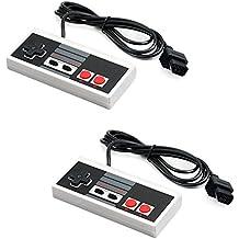 QUMOX 2 x Remoto Mando de Juego Gamepad para Nintendo Entertainment System NES(Sólo funcionan con la versión antigua de NES.)