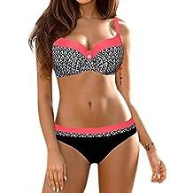 DAY8 Maillot de Bain 2 Pièces Femme Push Up Grande Taille Sexy Tankini  Bikini Bandeau Trikini b7d119a3d2ba