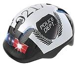 Ventura Police - Casco de ciclismo para niños, color blanco / negro, 52-57 cm