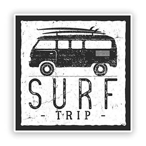Preisvergleich Produktbild 2x Surf Trip Vinyl Aufkleber Reise Gepäck # 7616 - 10cm/100mm Wide