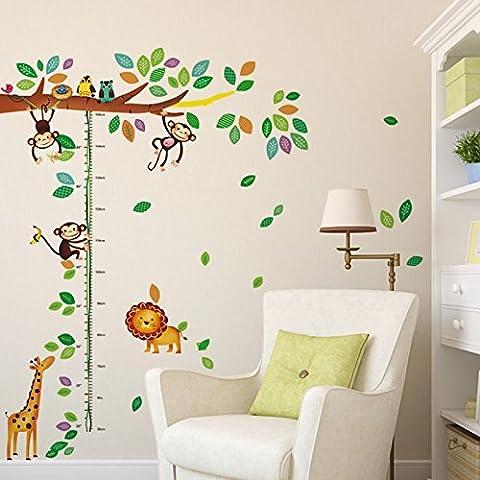 A forma di leone, giraffa, scimmia di albero in vinile, decalcomania, adesivo da parete in PVC Home-Carta da parati, Casa, decorazione per soggiorno, camera da letto, cucina Art Picture DIY Murals Girls Boys Baby Playroom Décor kids Nursery