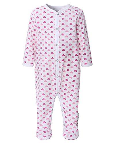 Kidsform Baby Romper Pyjamas Long Sleeve Footie Sleepwear Onesie Sleepsuit Newborn Bodysuit pink 3M