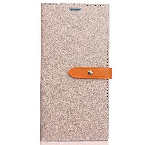 Business Style Mixed Farben Slim Design PU Ledertasche Brieftasche Stand Case [Shockproof] mit Niet Echtes Leder Gürtel & Kickstand & Card Slots für LG G5 ( Color : Wine ) Gray