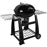 Lokkii Perfection Trolley Holzkohle Kugelgrill, Durchmesser 57 cm, schwarz