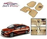 #2: Auto Pearl - Beige 3D Car Foot Mats Set Of 5 Pcs. For - Honda City 2017