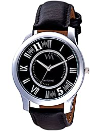 Watch Me Analogue Black Dial Men's Watch-WMAL-282
