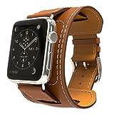 MoKo Bracelet pour AppleWatch, Bracelet de Remplacement en Cuir pour Apple Watch...