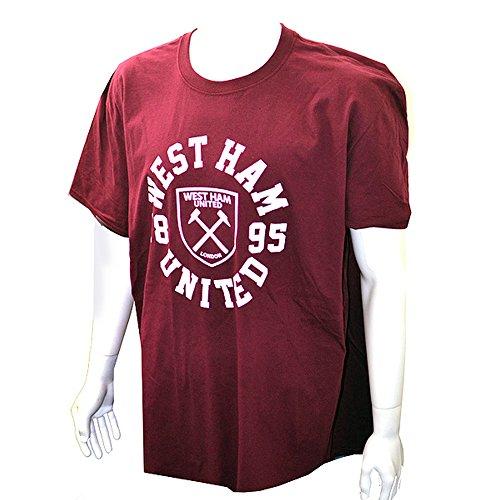 West Ham - Camiseta Oficial Granate Hombre Caballero