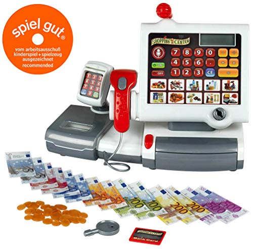 Theo Klein 9356 - Kassenstation mit Folientastatur - Taste Cash Register