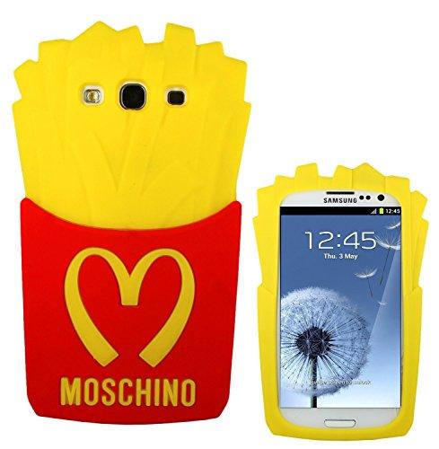 Affari di Famiglia Cover Patatine fritte Moschino 3D in gomma silicone Per Samsung Galaxy J5