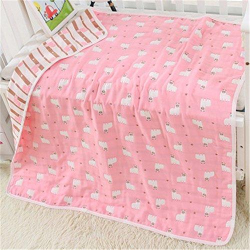 OHBABYKA BBaby Muslin Gesichtstuch - 110x110 cm Natürliche Bio-Baumwolle Baby Tücher - Soft Newborn Babies Face Towel && Musselin Waschlappen, für Sensitive (BSW03-97)