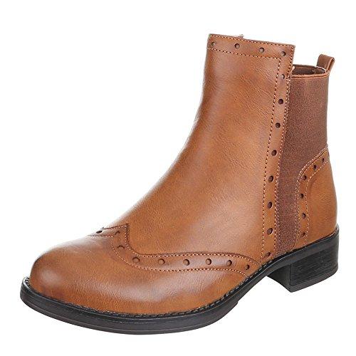 Chaussures, 437–pa, bottines Marron - Camel