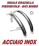 """COPPIA PARAFANGHI per GRAZIELLA - PIEGHEVOLE misura 20"""" in ACCIAIO INOX"""
